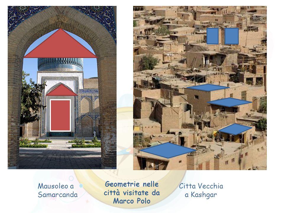 Mausoleo a Samarcanda Citta Vecchia a Kashgar Geometrie nelle città visitate da Marco Polo
