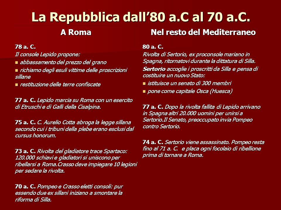 Le due leggi 67 a.C.