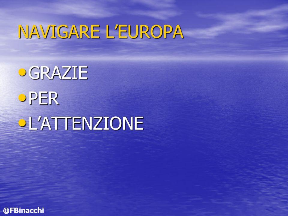 NAVIGARE LEUROPA GRAZIE GRAZIE PER PER LATTENZIONE LATTENZIONE @FBinacchi