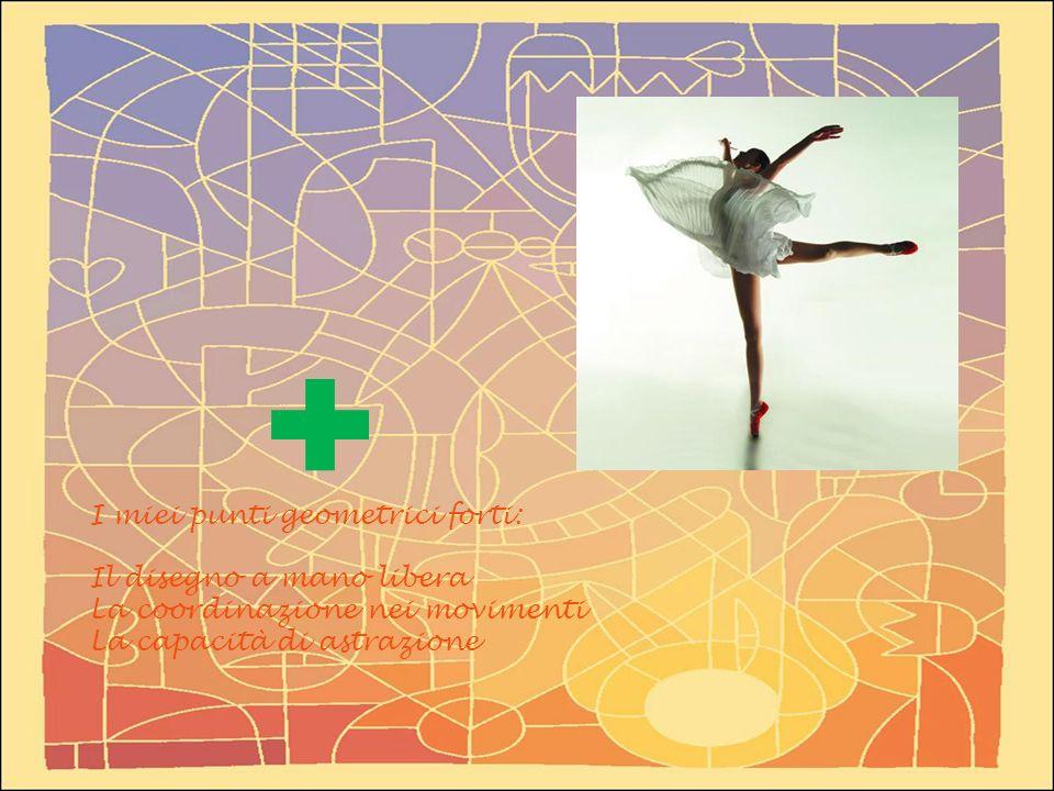 I miei punti geometrici forti: Il disegno a mano libera La coordinazione nei movimenti La capacità di astrazione