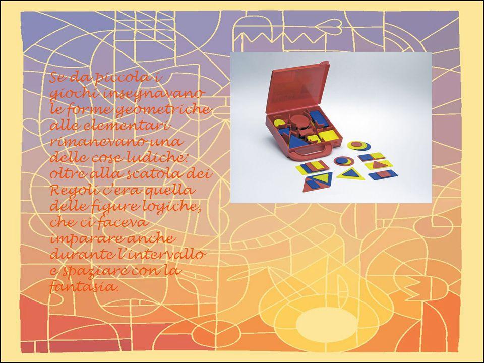 Se da piccola i giochi insegnavano le forme geometriche alle elementari rimanevano una delle cose ludiche: oltre alla scatola dei Regoli cera quella d