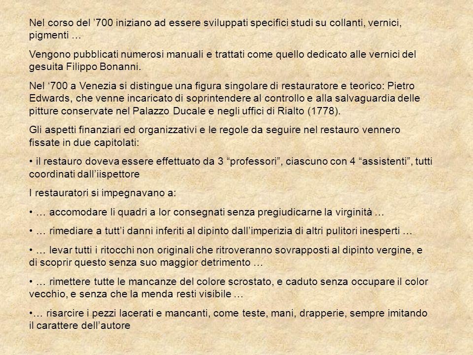 In Italia alcuni principi e norme procedurali riferiti al restauro sono contenuti nellattuale legislazione, in particolare nel Codice dei Beni Culturali del 2004.