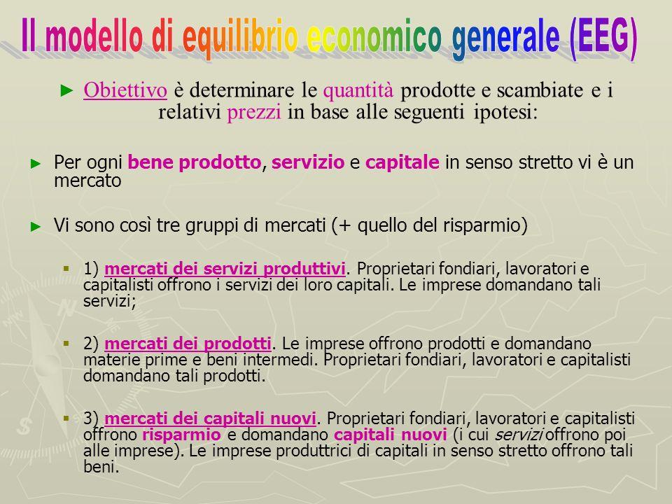 Lo scopo della teoria dellequilibrio economico generale è dimostrare come lo scambio volontario in condizioni di mercato concorrenziale assicuri una s
