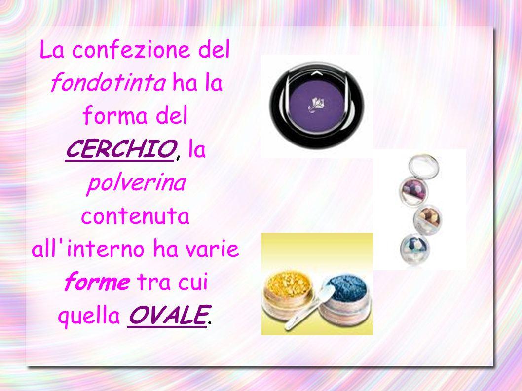 Il rossetto presenta: se chiuso con il tappo una forma a CILINDRO, mentre la parte interna è a forma di TRIANGOLO ISOSCELE.