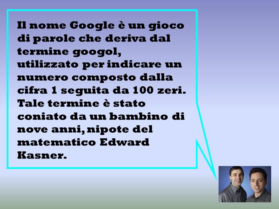 Da dove deriva il termine google?