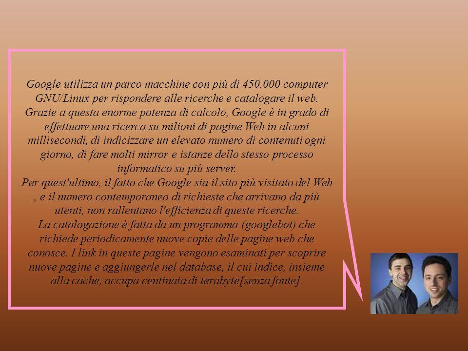 Come fa Google a effettuare le ricerche in termini tecnici- informatici?