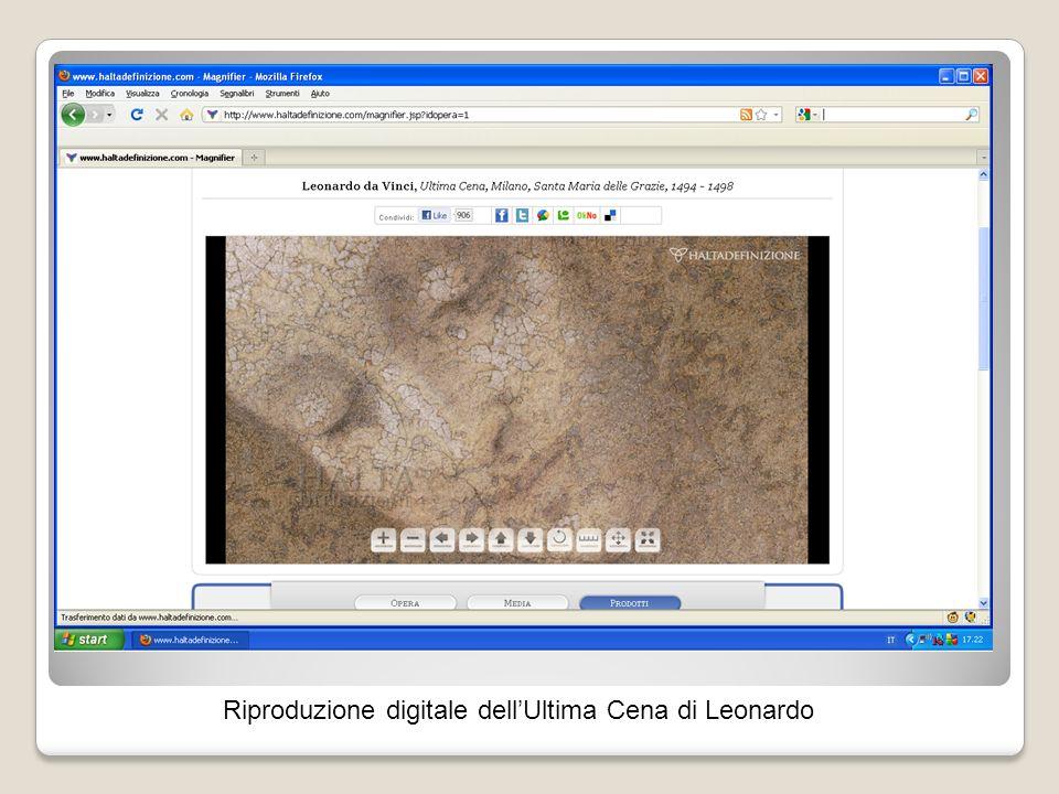 Riproduzione digitale dellUltima Cena di Leonardo