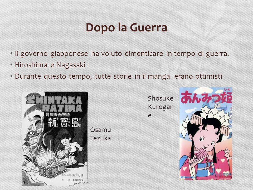 Padre delle manga: Osamu Tezuka Migliorata il manga per completo Walt Disney Tutti generi delle manga 1950: Jungle Taitei 1951: Astroboy