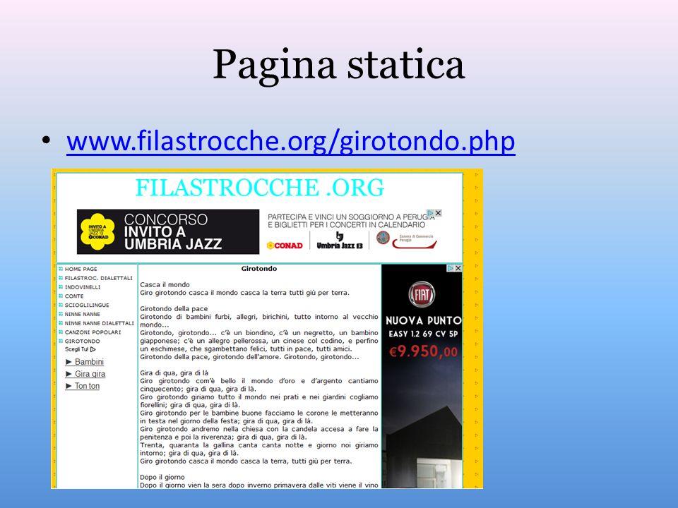 Pagina statica www.filastrocche.org/girotondo.php