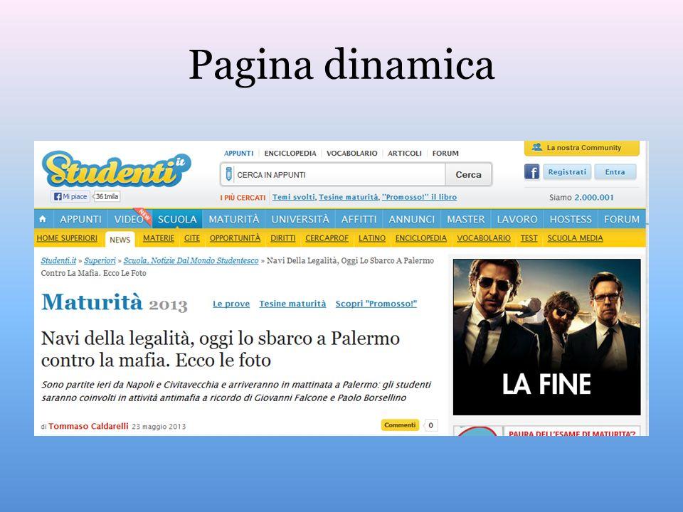 Dati e diffusione Notizia pilastro del web, con posta elettronica, e-commerce e social, Internet, ha allargato enormemente il mercato Il 60 % delle famiglie in Italia ha un computer 87% della popolazione tra 14 e 29 anni usa il web.