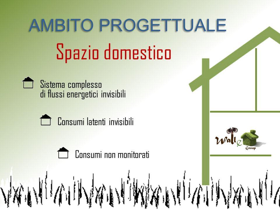 AMBITO PROGETTUALE Spazio domestico Sistema complesso di flussi energetici invisibili Consumi latenti invisibili Consumi non monitorati