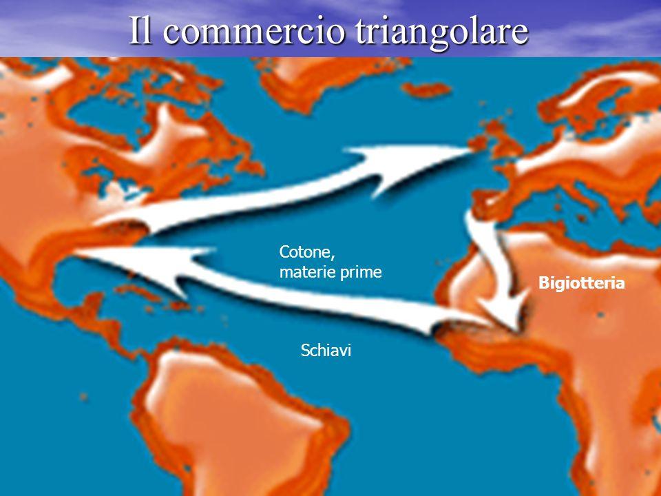 Il commercio triangolare Tratta degli schiavi e il cosiddetto commercio triangolare Tratta degli schiavi e il cosiddetto commercio triangolare Unione