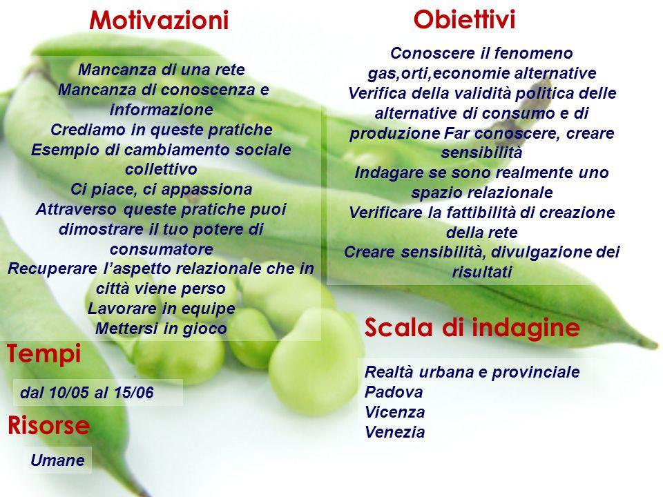 Definizione del campo di ricerca I luoghi delle economie alternative in Veneto Padova, Venezia, Vicenza: territori a confronto