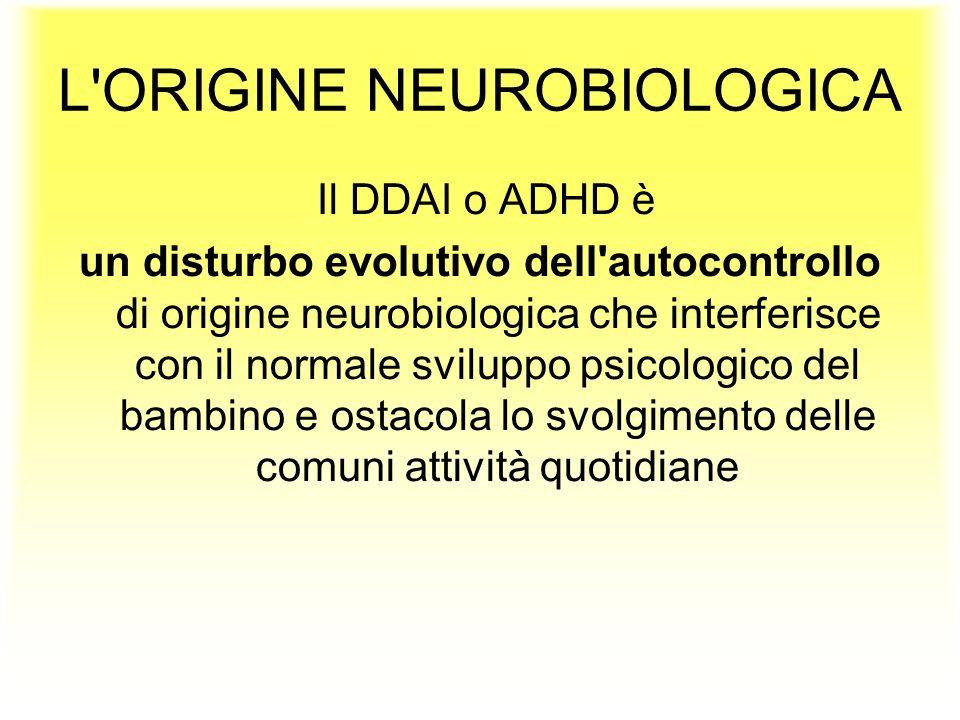 Il DDAI o ADHD è un disturbo evolutivo dell'autocontrollo di origine neurobiologica che interferisce con il normale sviluppo psicologico del bambino e