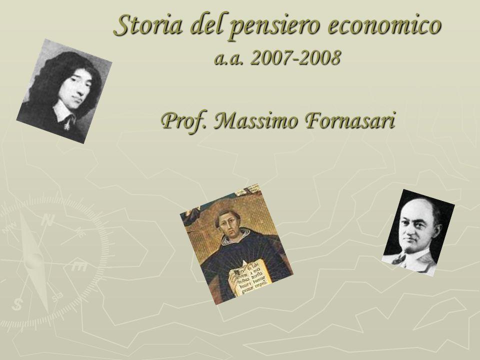 1 ) Storia del pensiero e storia economica J.A.