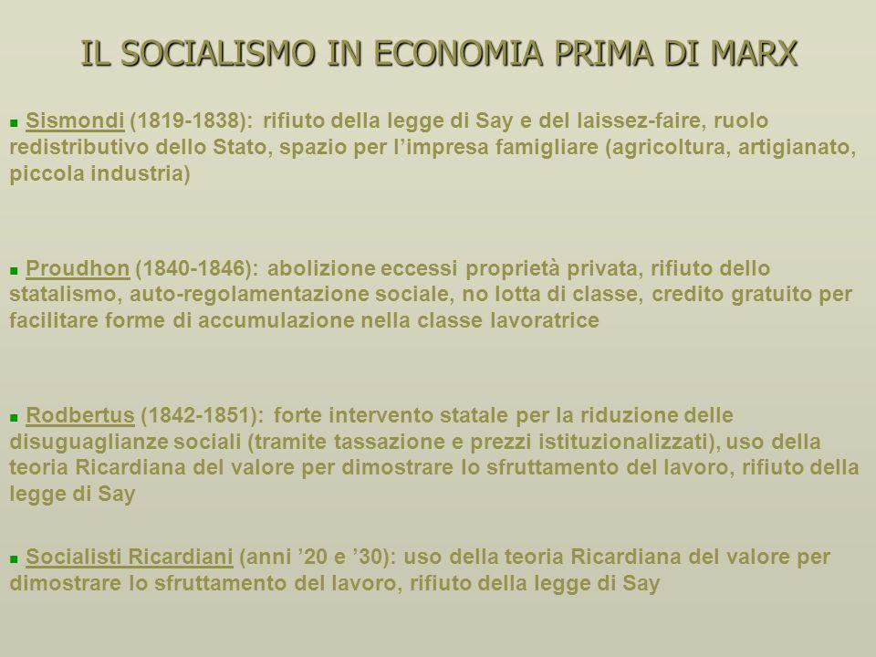 IL PENSIERO SOCIALISTA PRIMA DI MARX Saint Simon (1820-1825), mistica della società tecnocratica Saint Simon (1820-1825), mistica della società tecnoc