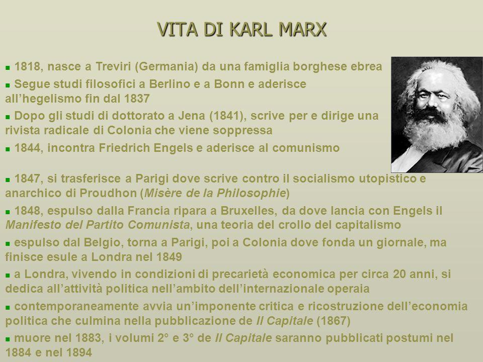 IL SOCIALISMO IN ECONOMIA PRIMA DI MARX Sismondi (1819-1838): rifiuto della legge di Say e del laissez-faire, ruolo redistributivo dello Stato, spazio
