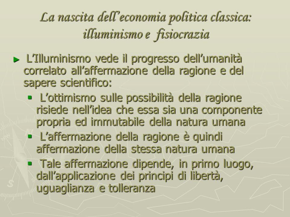 Ferdinando Galiani (1728-1787): Della moneta (1751); Dialogues sur le commerce des bleds (1769) La polemica con i Fisiocratici: La polemica con i Fisi