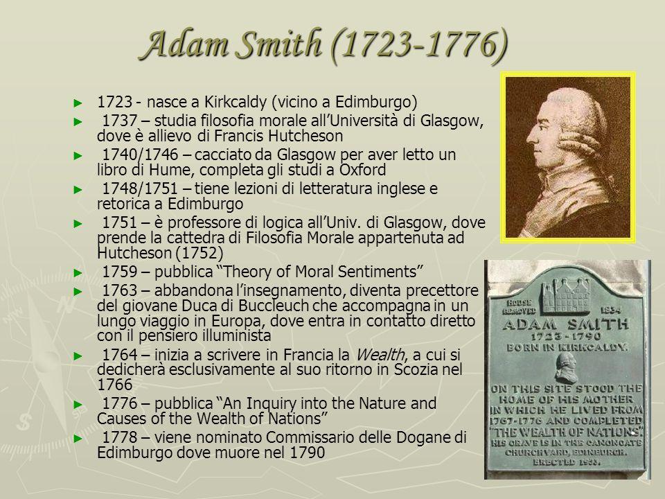 Adam Smith: dalla teoria dei sentimenti morali alla Ricchezza delle nazioni