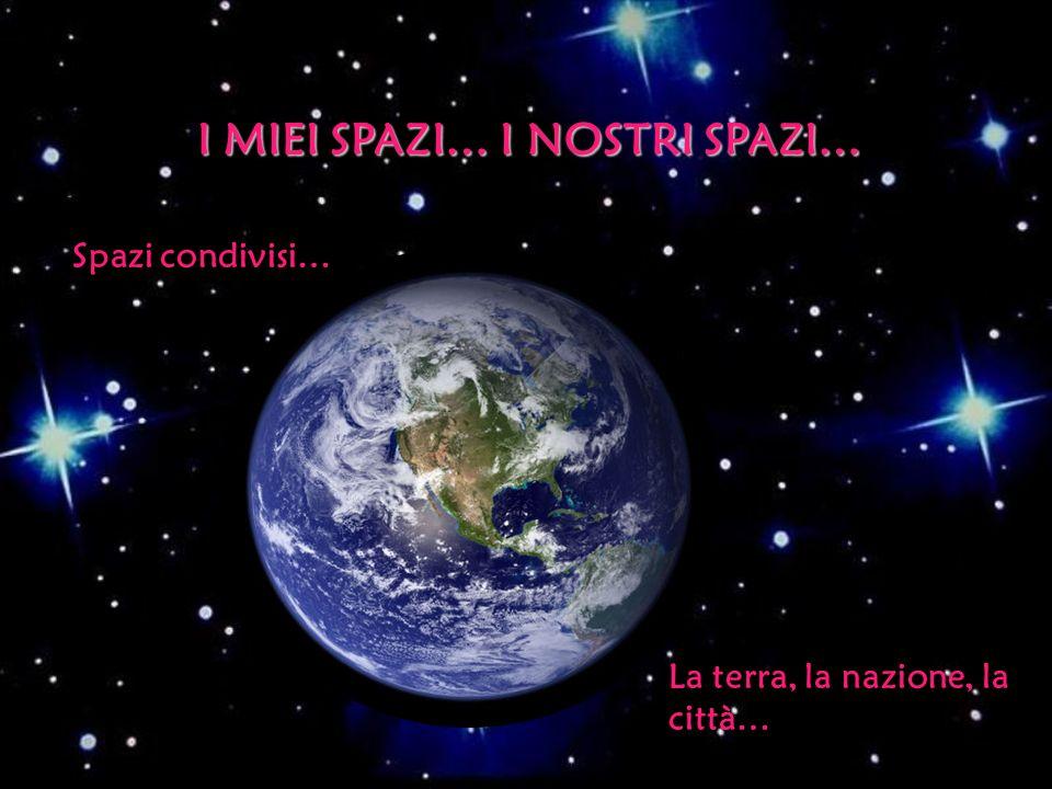I MIEI SPAZI… I NOSTRI SPAZI… Spazi condivisi… La terra, la nazione, la città…