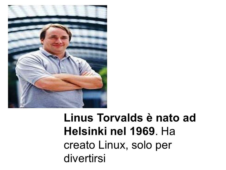 Linus Torvalds è nato ad Helsinki nel 1969. Ha creato Linux, solo per divertirsi