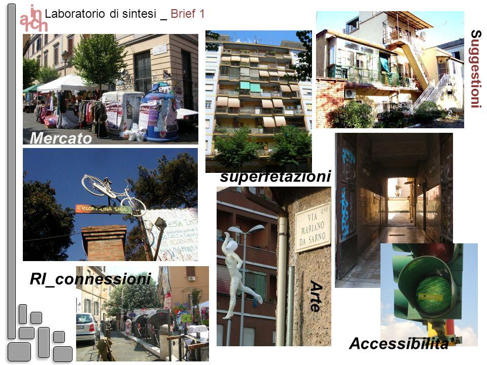 Suggestioni Laboratorio di sintesi _ Brief 1 Accessibilita A r t e superfetazioni RI_connessioni Mercato