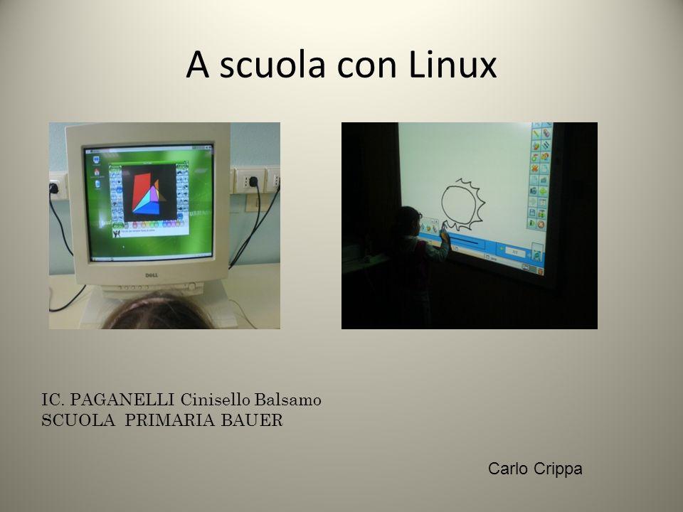 A scuola con Linux IC. PAGANELLI Cinisello Balsamo SCUOLA PRIMARIA BAUER Carlo Crippa