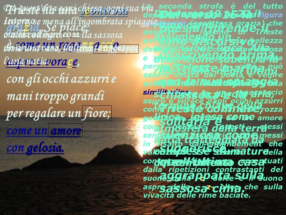 scontrosa amore gelosia. Trieste ha una scontrosa grazia. Se piace, è come un ragazzaccio aspro e vorace, con gli occhi azzurri e mani troppo grandi p
