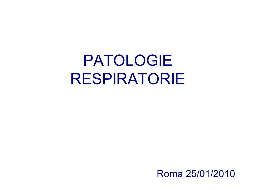 PATOLOGIE RESPIRATORIE Roma 25/01/2010
