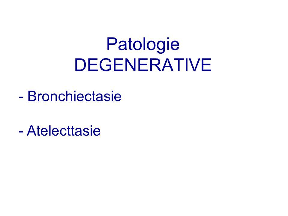 Patologie DEGENERATIVE - Bronchiectasie - Atelecttasie