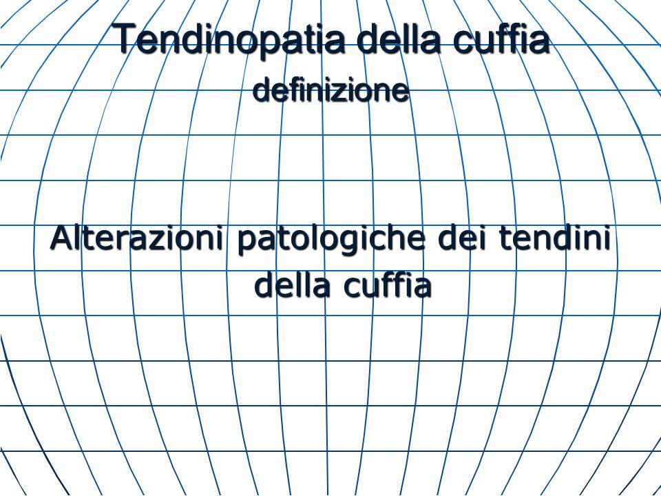 Tendinopatia della cuffia definizione Alterazioni patologiche dei tendini della cuffia