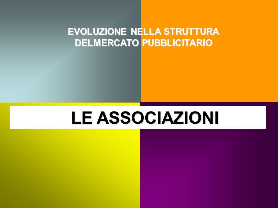EVOLUZIONE NELLA STRUTTURA DELMERCATO PUBBLICITARIO LE ASSOCIAZIONI