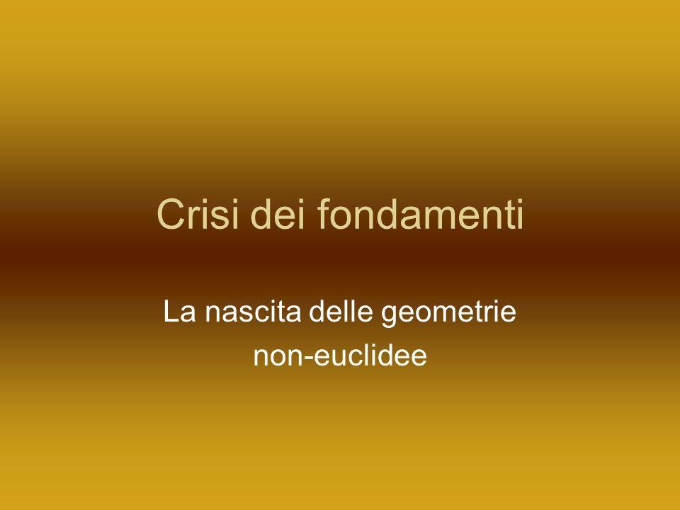 Crisi dei fondamenti La nascita delle geometrie non-euclidee