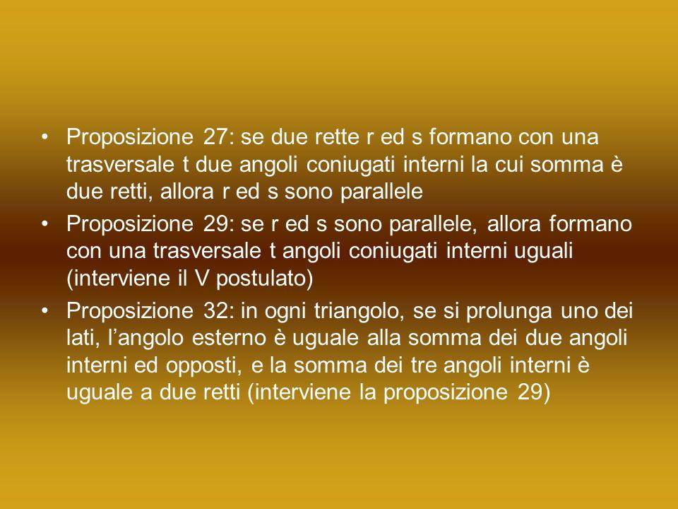 La terza anomalia Con la proposizione 32 le proposizioni 16 e 17 diventano superflue