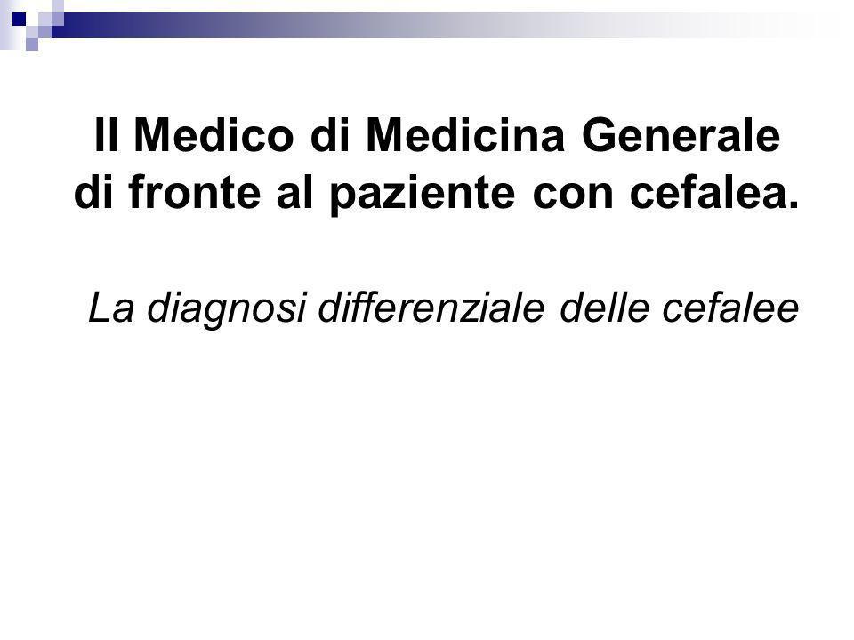 Il Medico di Medicina Generale di fronte al paziente con cefalea. La diagnosi differenziale delle cefalee