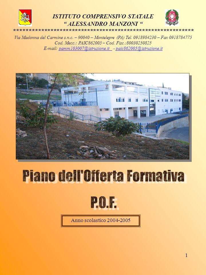 1 ISTITUTO COMPRENSIVO STATALE ALESSANDRO MANZONI *********************************************************** Via Madonna del Carmine s.n.c. – 90040 –