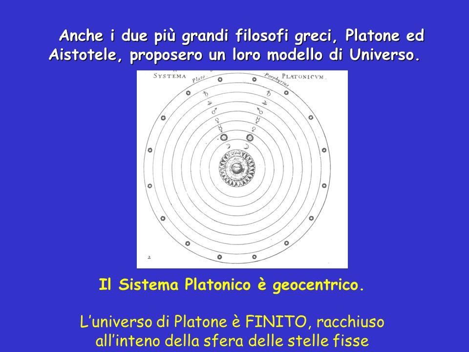 Il Sistema Platonico è geocentrico.