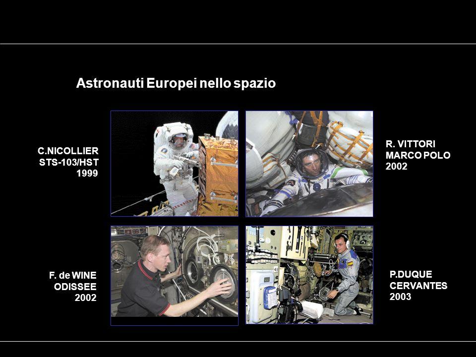 Astronauti Europei nello spazio R. VITTORI MARCO POLO 2002 P.DUQUE CERVANTES 2003 F.