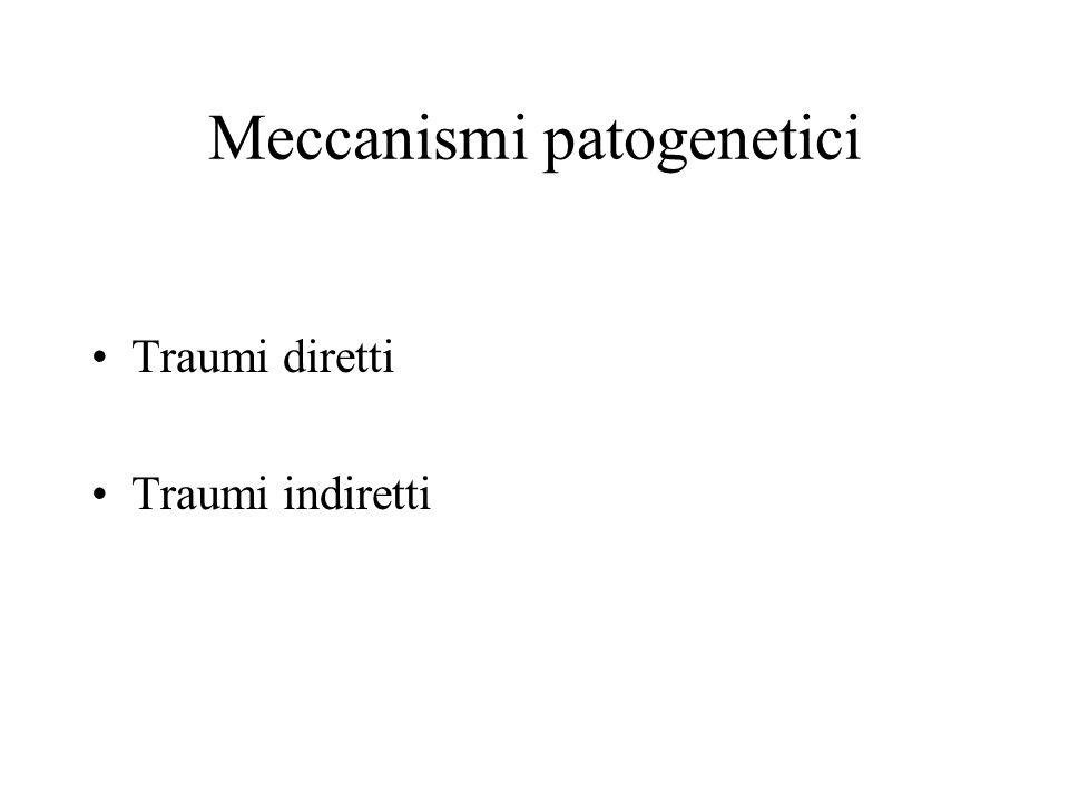 Meccanismi patogenetici Traumi diretti Traumi indiretti