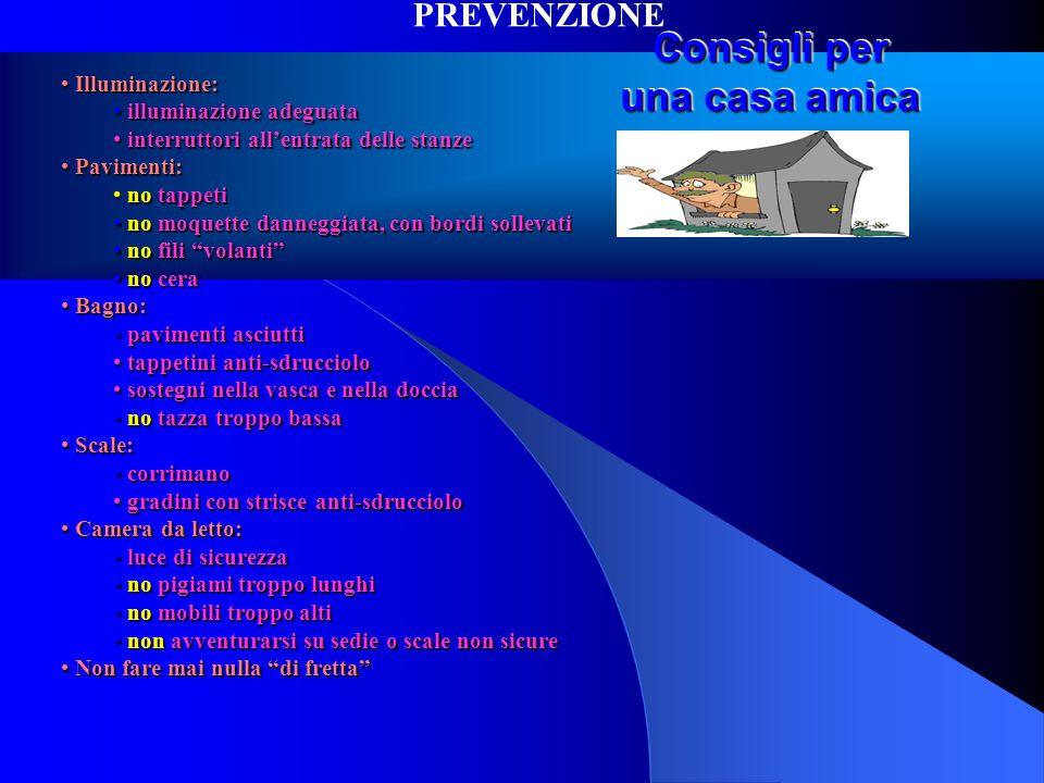 Consigli per una casa amica Illuminazione: Illuminazione: illuminazione adeguata illuminazione adeguata interruttori allentrata delle stanze interrutt