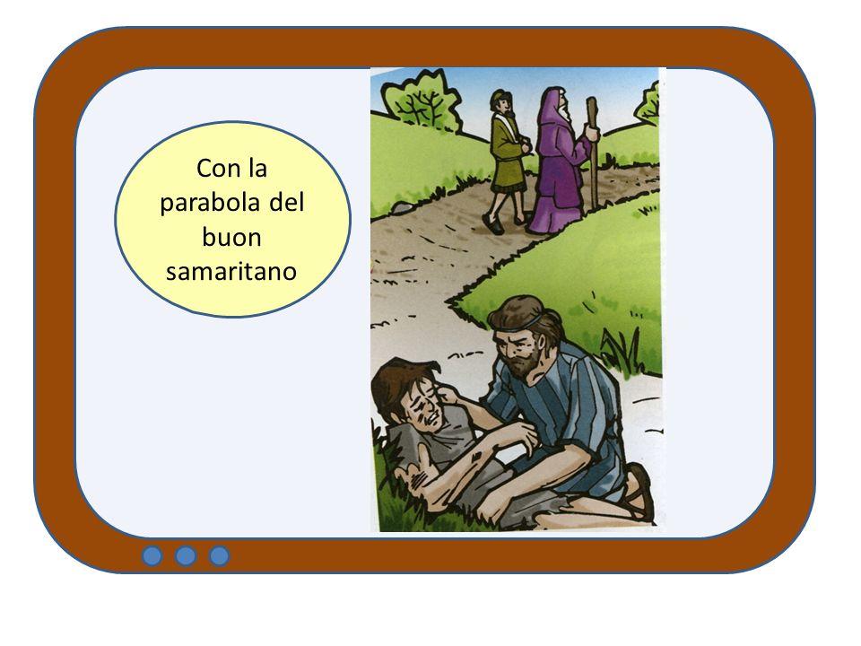 Con la parabola del buon samaritano