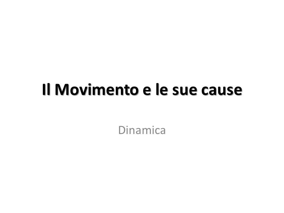 Il Movimento e le sue cause Dinamica