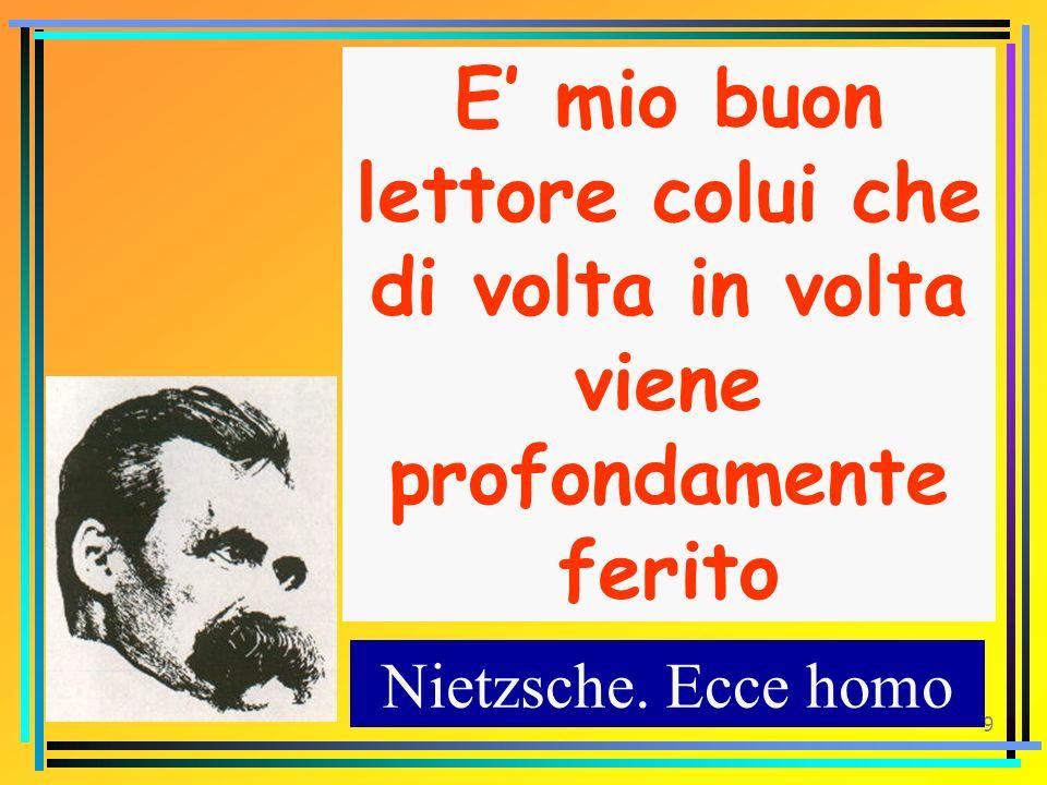 8 Chi sa respirare laria dei miei scritti sa che questa è unaria delle alture, unaria forte. Nietzsche. Ecce homo
