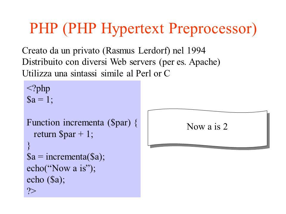web browser web server gateway program http CGI fisico connessione IP TCP sessione presentazione applicazione bla bla .