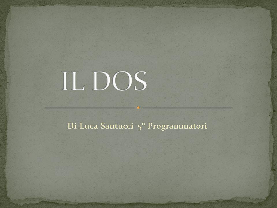 Il DOS è il vecchio sistema operativo, che fino a qualche anno fa era il più diffuso sui PC, prima dellavvento di Windows 95 e successori.
