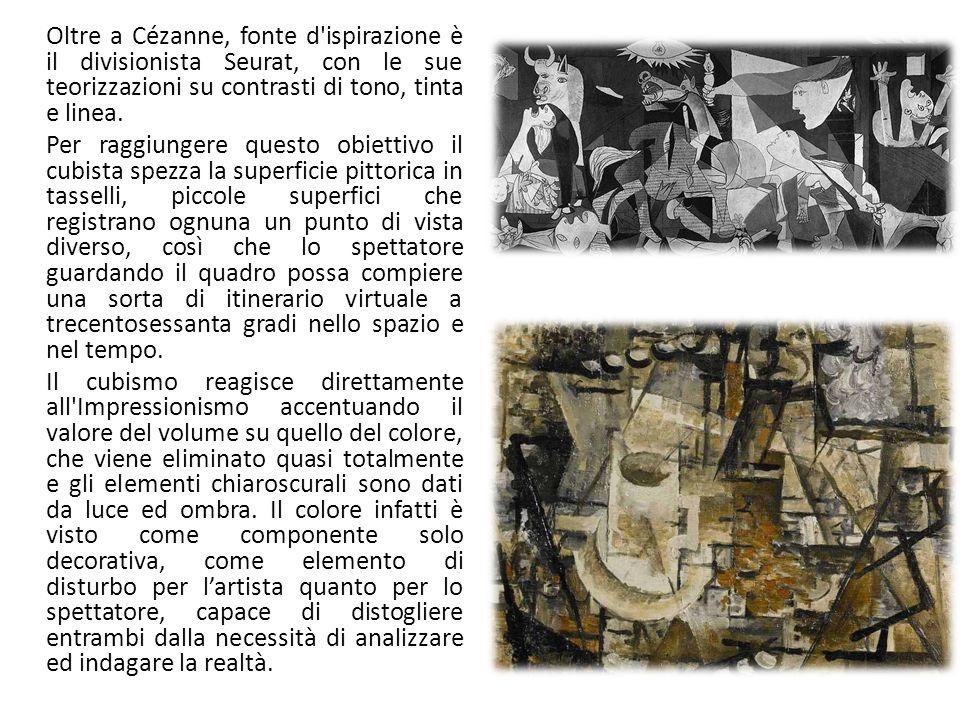 Oltre a Cézanne, fonte d'ispirazione è il divisionista Seurat, con le sue teorizzazioni su contrasti di tono, tinta e linea. Per raggiungere questo ob
