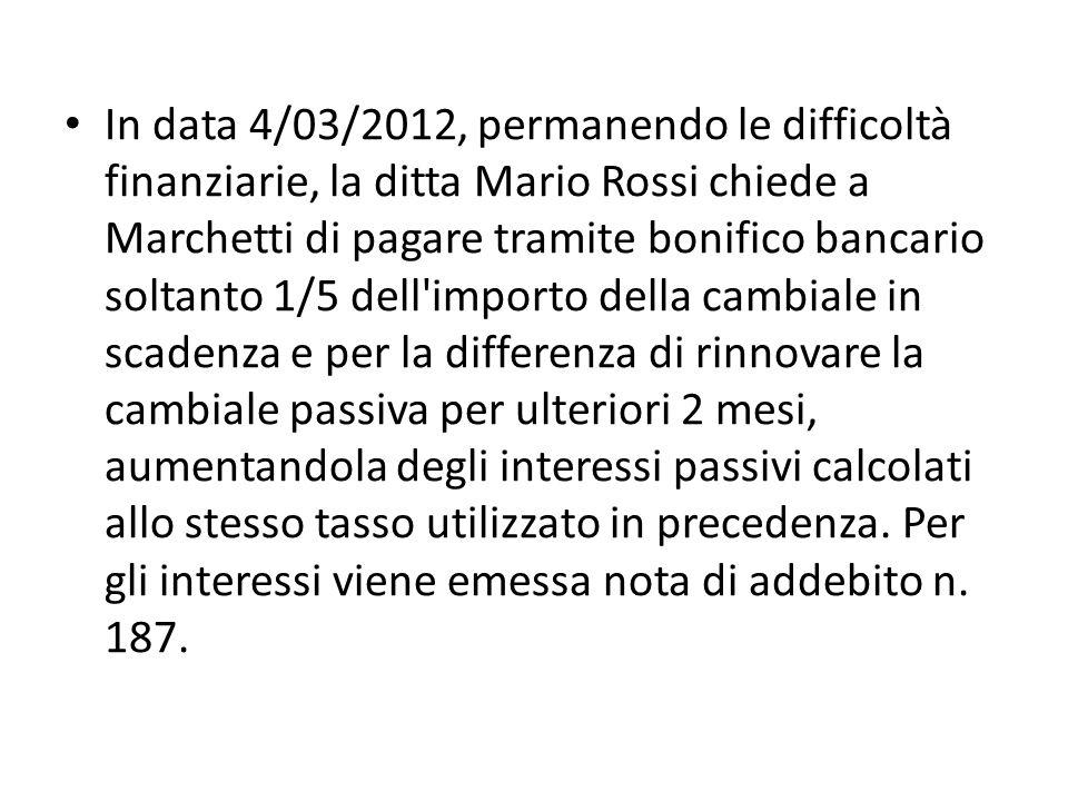 04/03DAREAVERE INT.PASS. V/FORNITORI85,89 DEBITI V/FORNITORI85,89 Nota di addebito n.