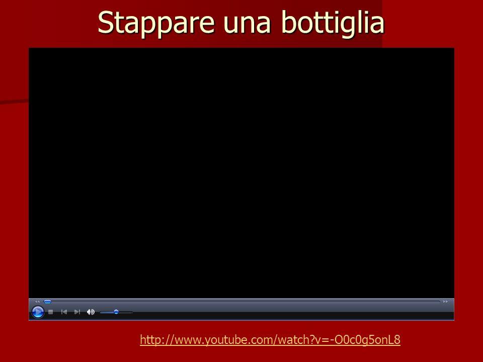 Stappare una bottiglia http://www.youtube.com/watch?v=-O0c0g5onL8