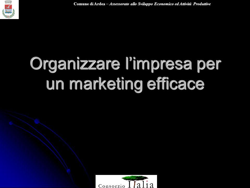 Comune di Ardea – Assessorato allo Sviluppo Economico ed Attività Produttive Organizzare limpresa per un marketing efficace