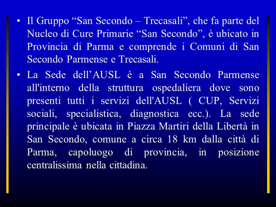 Il Gruppo San Secondo – Trecasali, che fa parte del Nucleo di Cure Primarie San Secondo, è ubicato in Provincia di Parma e comprende i Comuni di San S